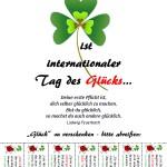 Bitte mitmachen: Glücksaushang zum Tag des Glücks (20. März)
