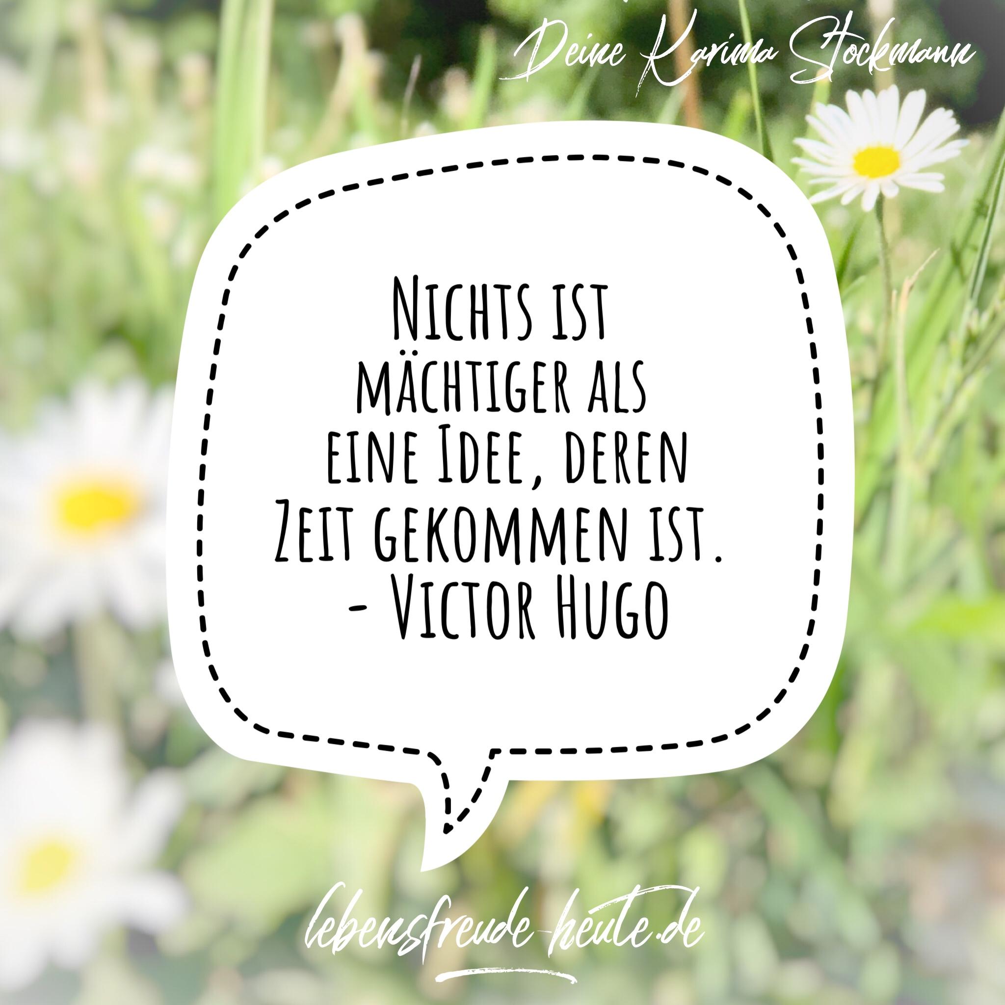lebensfreude-heute_Karima-Stockmann_Victor-Hugo_Idee